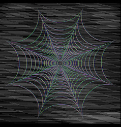 Abstract cobweb on dark background vector