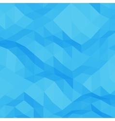 Blue abstract triangular background vector image vector image