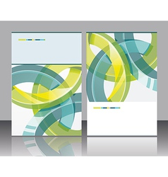 brochure design element vector image