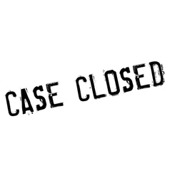 Case closed stamp vector