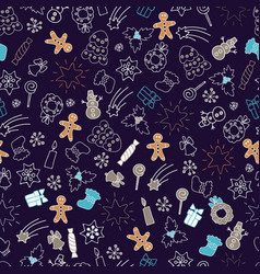 Christmas seamless pattern colorful xmas vector