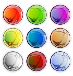 Colored glossy web buttons vector