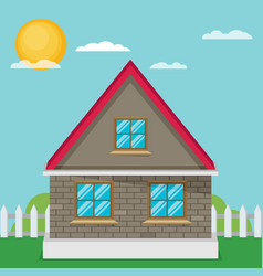 flat house vector image