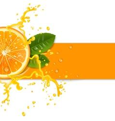 fresh orange background vector image vector image