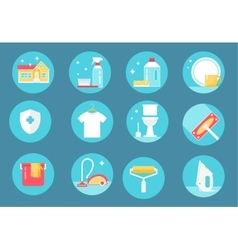 Home Cleaning Service Icons vector image vector image