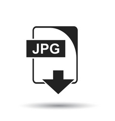 Jpg icon flat jpg download sign symbol with vector