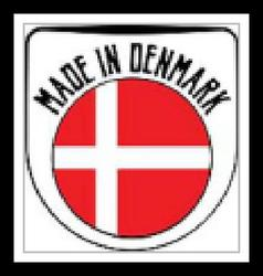 Made in Denmark rubber stamp vector image
