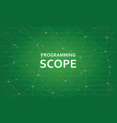 Programming scope concept white text vector