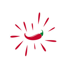 Red chilli pepper isolated on white background vector