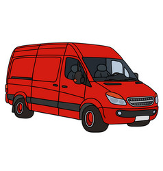 red delivery car vector image