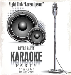 Retro karaoke background vector image vector image