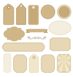 Set of blank vintage frames tags and labels vector image