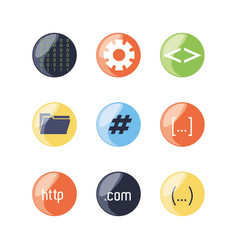 Set of programming code icons vector