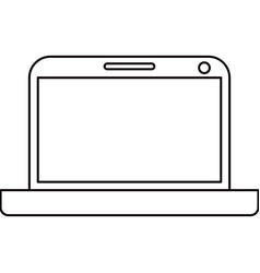 sketch silhouette modern laptop tech vector image vector image