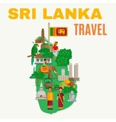 Sri lanka flat vector