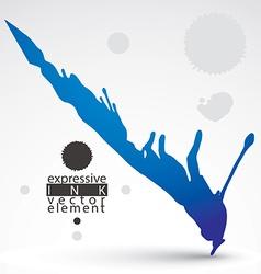 Watercolor colorful graffiti splash element bright vector
