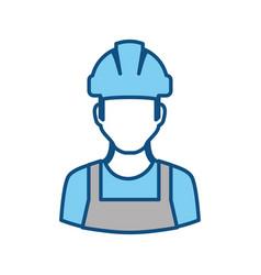 Worker man faceless vector