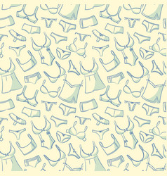 female underwear doodle pattern vector image