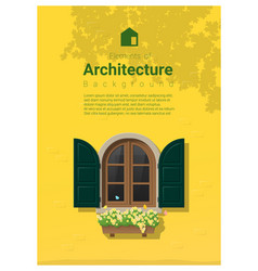 elements of architecture window background 16 vector image