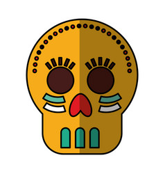 mexican skull mask icon vector image