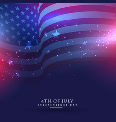 Beautiful american flag background vector