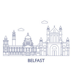 Belfastthe most famous buildings of the city vector