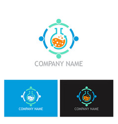 teamwork science logo vector image