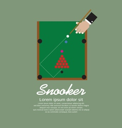 Snooker playing eps10 vector