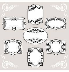 Set Of Art Deco Banners vector image