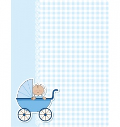 Baby boy background vector