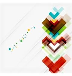 Clean colorful unusual geometric pattern design vector image