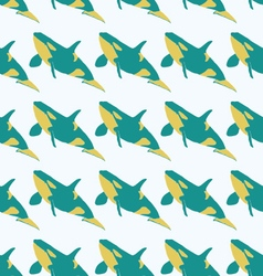 Grampus seamless pattern in bright colors vector