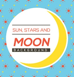 Sun stars and moon background vector