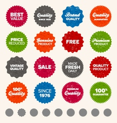 Badges and labels vector