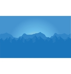 landscape of blue mountains vector image