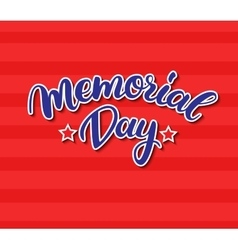Memorial day card with handwritten vector