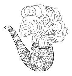 Abstract smoking pipe coloring book vector