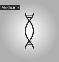 Black and white style icon of dna vector