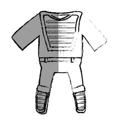 Catcher uniform isolated icon vector