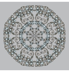 Circular abstract pattern in arabic style vector