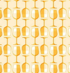 Colored white wine glass seamless pattern vector