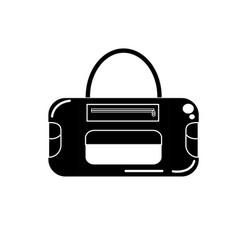 Contour sport bag to save the clohes vector