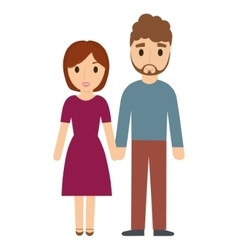 Couple of woman and man family design vector