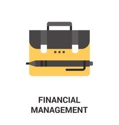 financial management icon concept vector image vector image