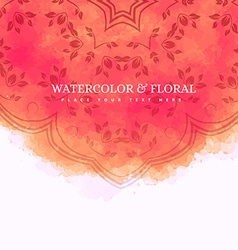 Floral watercolor background vector