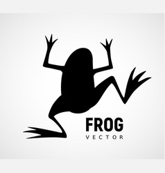 Frog silhouette black and white icon vector