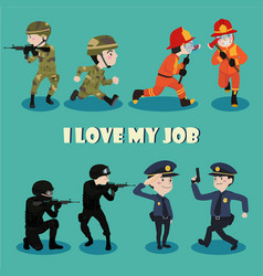 I love my job vector