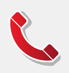 Phone sign new year reddish vector