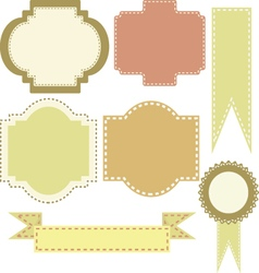Set of frames and emblems vector