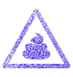 Shit warning icon grunge watermark vector